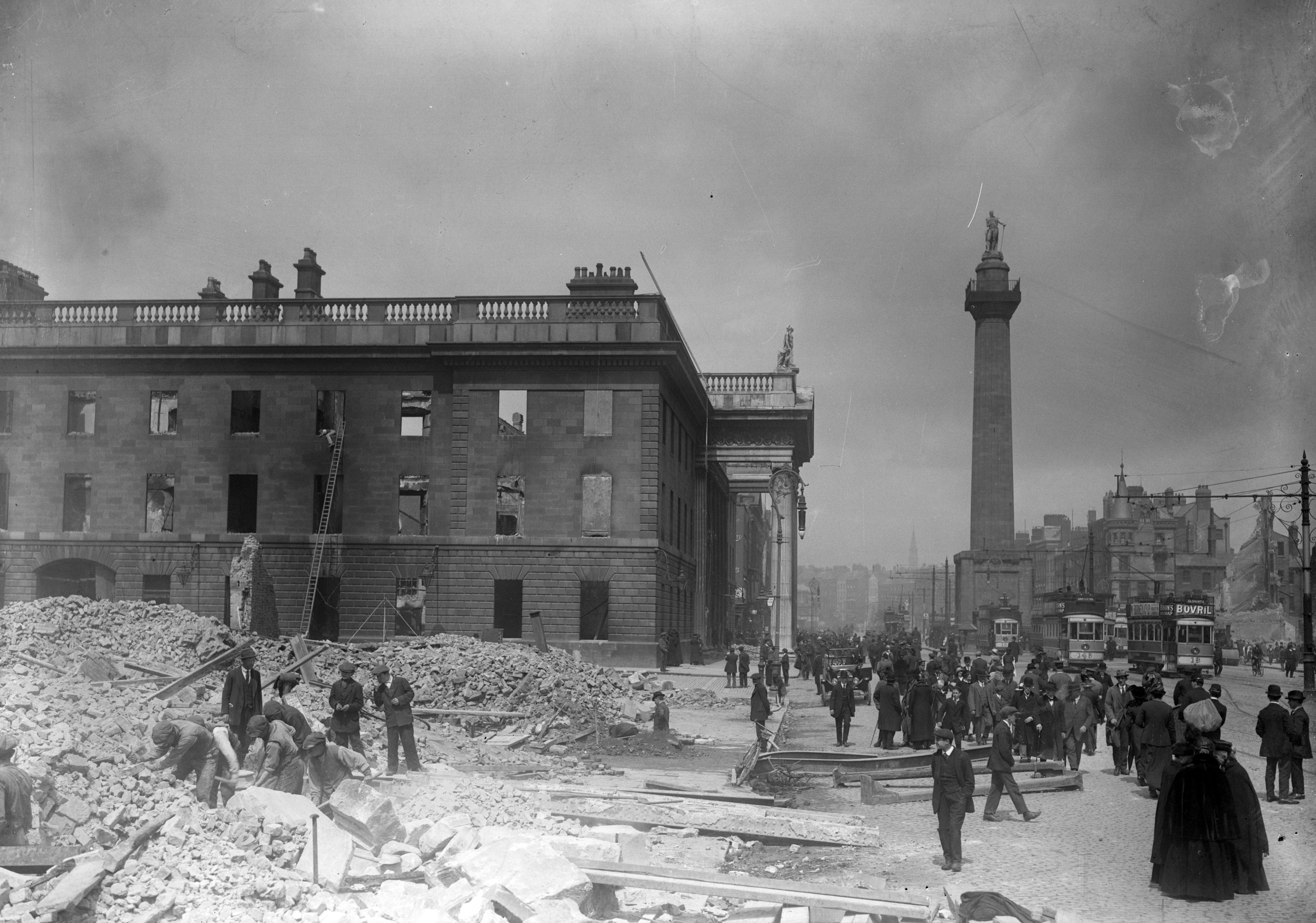 image of The General Post Office on Sackville Street, after the Easter Rising.
